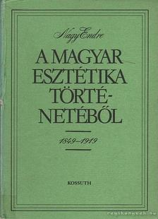 Nagy Endre - A magyar esztétikai történetéből 1849-1919 [antikvár]