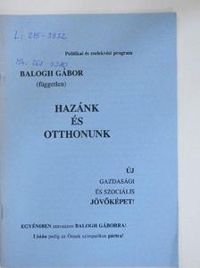 Balogh Gábor - Hazánk és otthonunk [antikvár]