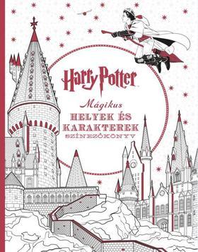 Harry Potter - Mágikus helyek és karakterek színezőkönyv