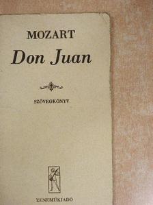 Wolfgang Amadeus Mozart - Don Juan [antikvár]