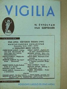 Demény János - Vigilia 1940. szeptember [antikvár]