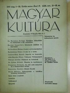 Balásházy Péter - Magyar Kultúra 1943. augusztus 5-20. [antikvár]