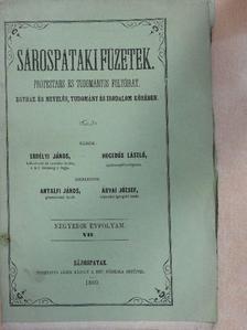 Barna József - Sárospataki Füzetek 1860. augusztus 15. [antikvár]