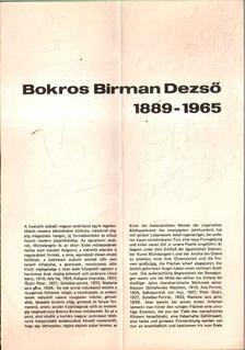 K. Kovalovszky Márta - Bokros Birman Dezső 1889-1965 [antikvár]