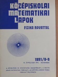 Honyek Gyula - Középiskolai matematikai lapok 1991. november [antikvár]
