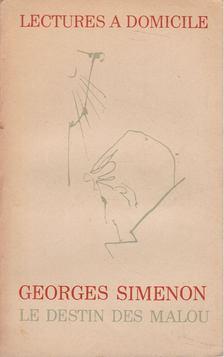 Georges Simenon - Le destin des Malou [antikvár]