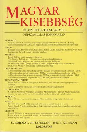 Székely István - Magyar Kisebbség 2002. VII. évfolyam 4. (26.) szám [antikvár]