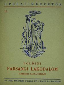 Poldini Ede - Poldini: Farsangi lakodalom [antikvár]