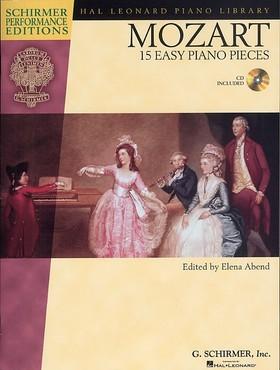 MOZART, W,A, - 15 EASY PIANO PIECES + CD