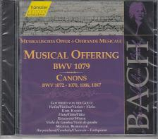 Bach - MUSICAL OFFERING BWV 1079 CANONS CD