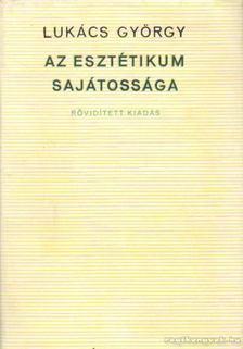Lukács György - Az esztétikum sajátossága [antikvár]