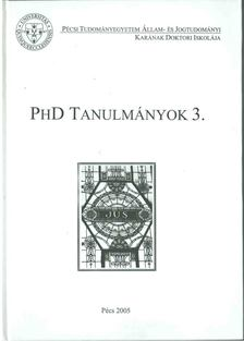 Ádám Antal - PhD tanulmányok 3. [antikvár]