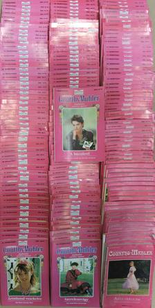 """Hedwig Courths-Mahler - """"161 kötet a Hedwig Courths-Mahler felejthetetlen szerelmes regényei sorozatból (nem teljes sorozat)"""" [antikvár]"""
