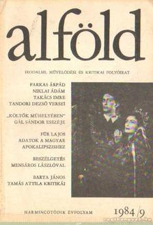 Juhász Béla - Alföld 1984/9. [antikvár]