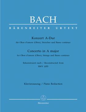 J. S. Bach - KONZERT IN A-DUR FÜR OBOE D`AMOR (OBOE), STREICHER UND BC, KLAVIERAUSZUG URTEXT