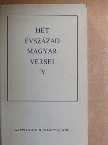 Ács Károly - Hét évszázad magyar versei IV. (töredék) [antikvár]