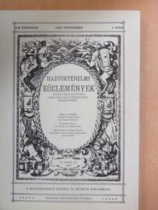 Bartha Tibor - Hadtörténelmi Közlemények 1995. szeptember [antikvár]
