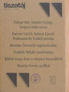 Árpás Károly - Tiszatáj 2003. október [antikvár]