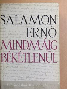 Salamon Ernő - Mindmáig békétlenül [antikvár]