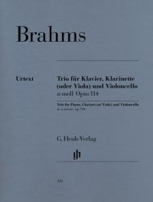 BRAHMS... - TRIO FÜR KLAVIER, KLARINETTE (VIOLA) UND VIOLONCELLO a-MOLL OP.114 URTEXT