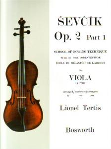 SEVCIK - SCHOOL OF BOWING TECHNIQUE FOR VIOLA OP.2 PART 1, ARRANGED BY LIONEL TERTIS
