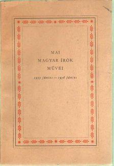 Bak János - Mai magyar írók művei [antikvár]