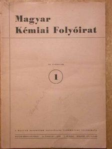Almássy Gyula - Magyar Kémiai Folyóirat 1953. (Nem teljes évfolyam) [antikvár]