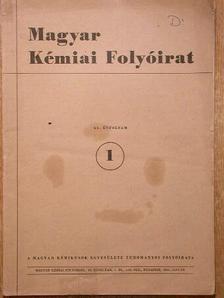 Almássy Gyula - Magyar Kémiai Folyóirat 1958. január-december [antikvár]