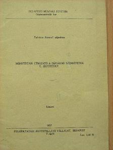 Takács József - Módszertani útmutató a gépjármű szerkezetek c. jegyzethez [antikvár]