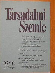 Berei Katalin - Társadalmi Szemle 1992. október [antikvár]