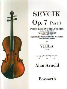 SEVCIK - PREPARATORY TRILL STUDIES IN THE FIRST POSITION OP.7 PART 1 FOR VIOLA, ARRANGED BY ALAN ARNOLD