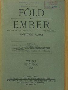 Czakó István - Föld és Ember 1928/1. [antikvár]