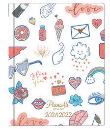 Diák tervező naptár B6 - 2021-2022 - Love