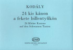 KOD - 24 KIS KÁNON A FEKETE BILLENTYŰKÖN