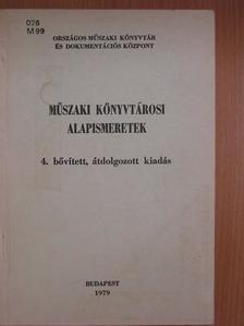 Bagi János - Műszaki könyvtárosi alapismeretek [antikvár]