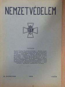 Borbély Andor - Nemzetvédelem 1956/1. [antikvár]