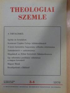 Berki Zuárd Illés - Theologiai Szemle 1978. március-április [antikvár]