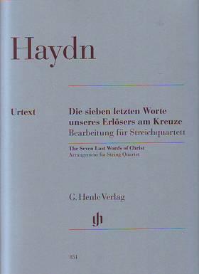HAYDN J. - DIE SIEBEN LETZTEN WORTE ... BEARBEITUNG FÜR STREICHQUARTETT URTEXT, STIMMEN (CHRISTIN HEITMANN)