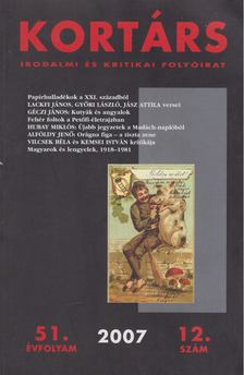 Kis Pintér Imre - Kortárs 2007. 51. évfolyam 12. szám [antikvár]