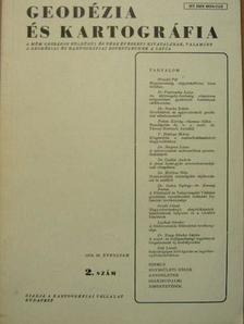 Bartalos Gyula - Geodézia és kartográfia 1978/2. [antikvár]