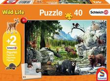 Az erdő állatai, 40 db (56239) +2 db Schleich figura a dobozban