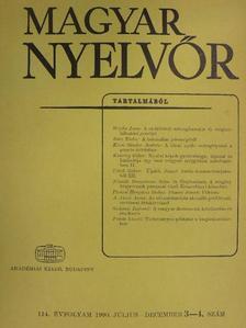 A. Jászó Anna - Magyar Nyelvőr 1990. július-december [antikvár]