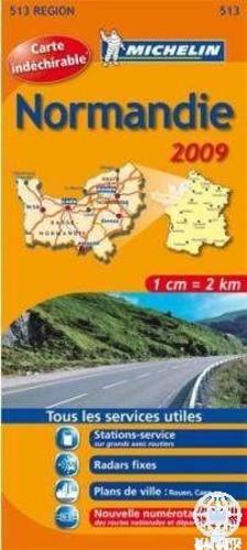 Michelin - Normandia térkép 2013