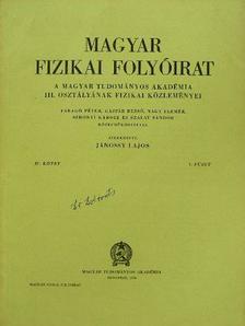A. Einstein - Magyar Fizikai Folyóirat IV. kötet 1-6. füzet [antikvár]