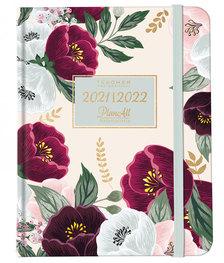 Tanári tervező naptár B5 2021-2022 - Purple bloom