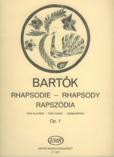 Bartók Béla - RAPSZÓDIA ZONGORÁRA OP.1