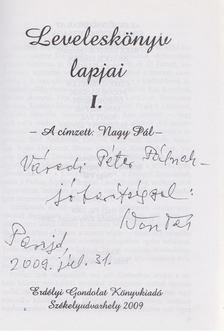 Nagy Pál - Leveleskönyv lapjai I. (dedikált) [antikvár]