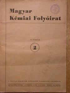 Almássy Gyula - Magyar Kémiai Folyóirat 1954. (Nem teljes évfolyam) [antikvár]