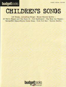 BUDGET BOOKS CHILDREN`S SONGS, 110 SONGS SOR PIANO, VOCAL AND GUITAR