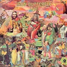 IRON BUTTERFLY - LIVE LP IRON BUTTERFLY